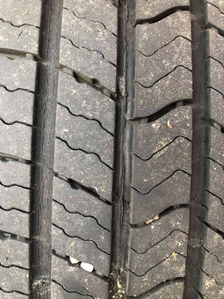 Typical Michelin Tread Cracks