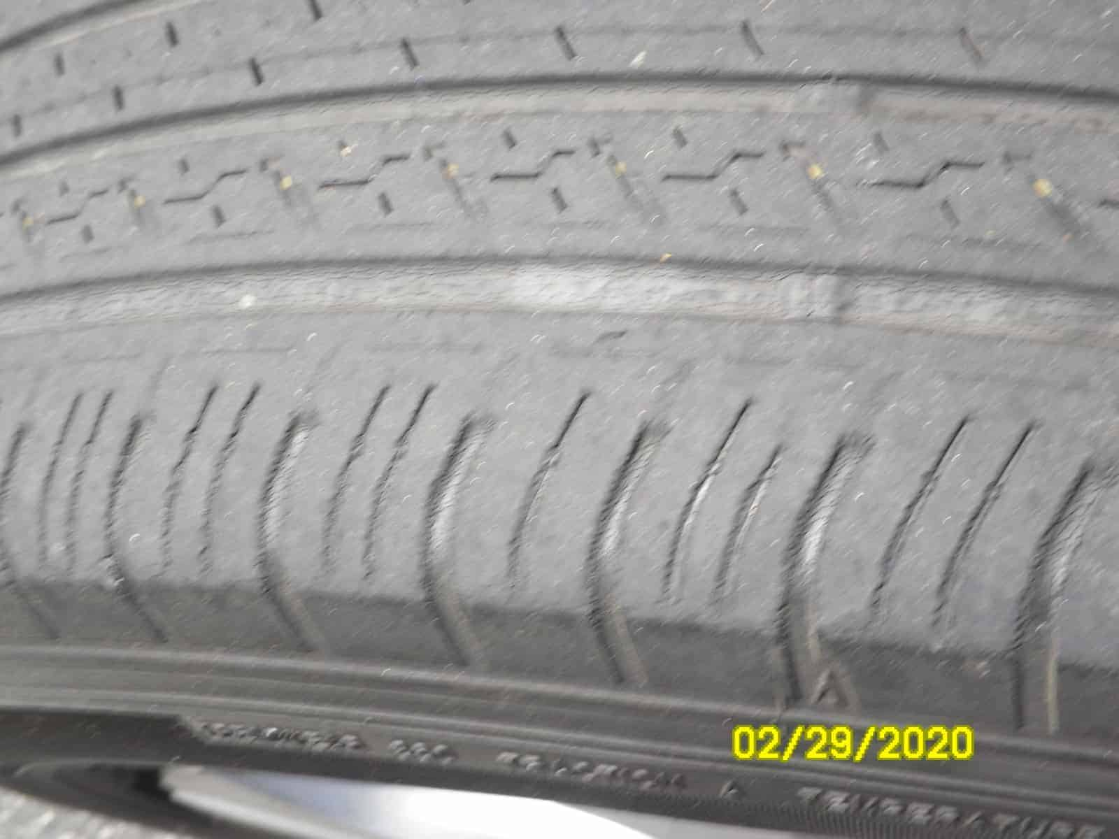Worn-Out Tire Cracks