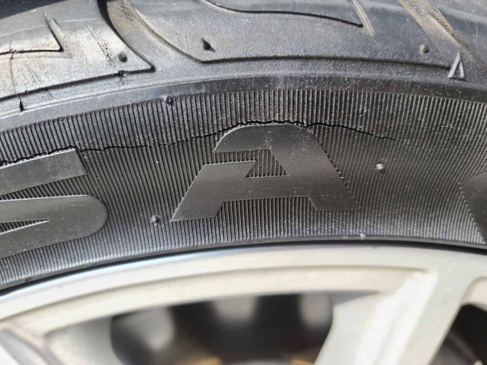 Severe Kumho Sidewall Cracking