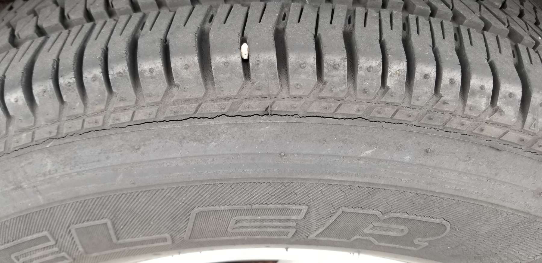 Bridgestone Severe Shoulder Tire Cracking