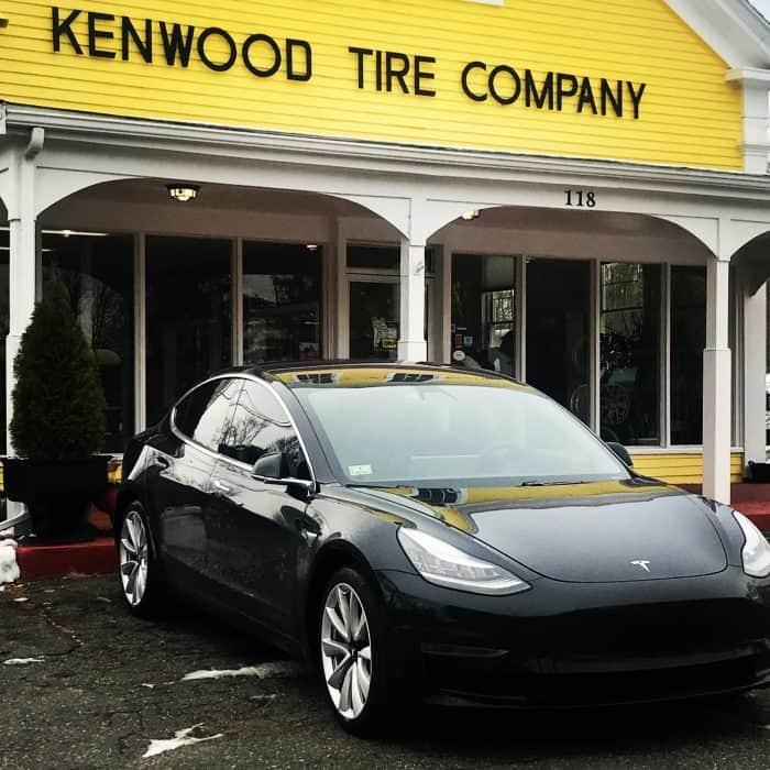 tesla model 3 at kenwood tire