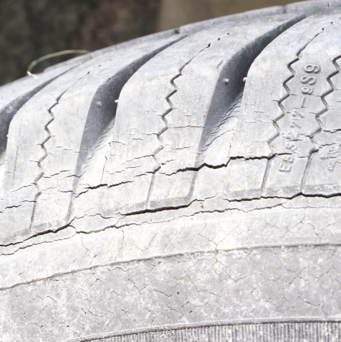 Severe Tire Cracking Michelin LTX