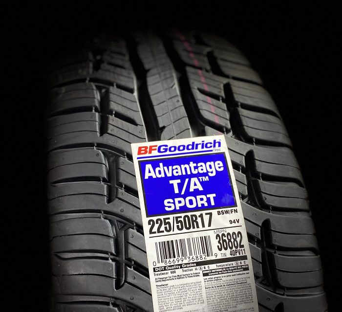 Best car tire choices for 2020 - BFGoodrich Advantage Sport T/A